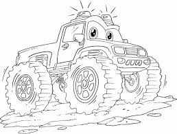Printable Monster Truck Coloring Page Free Coloring Library