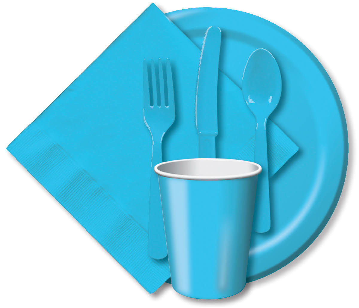 "Creative Converting Paper Dinner Plate - Pastel Blue, 8.75"", 24 Pack"