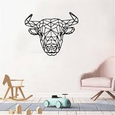 geometrische bull tiere kuh muster wand aufkleber