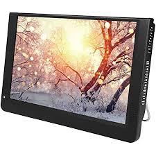 ashata tragbarer fernseher 12 zoll hd tv lcd fernseher digital analog tv 1080p mini led t t2 digitalfernseher mit antenne fernbedienung für auto