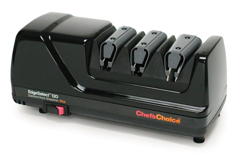 Chef's Choice 120 Diamond Hone EdgeSelect Professional Knife Sharpener - 3-Stage, Black