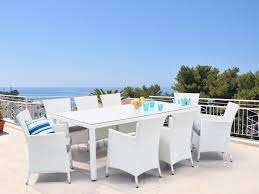 """Rattan Garden Furniture Set """"Sun"""" Rattan Table 220 Cm And 8 Chairs ... Shop Aleko Wicker Patio Rattan Outdoor Garden Fniture Set Of 3 Pcs 4pc Sofa Conservatory Sunnydaze Tramore 4piece Gray Best Rattan Garden Fniture And Where To Buy It The Telegraph Akando Outdoor Table Chair Hog Giantex Chat Seat Loveseat Table Chairs Costway 4 Pc Lawn Weston Modern Beige Upholstered Grey Lounge Chair Riverdale 2 Bistro With High Webetop Setoutdoor Milano 4pc Setting Coffee"""
