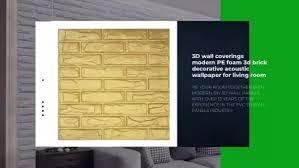 3d wandverkleidungen moderne pe schaum 3d ziegel dekorative