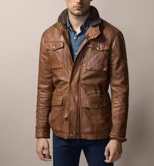 massimo dutti nappa leather field jacket him pinterest field