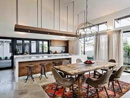 Kitchen And Dining Room Light Fixtures Classic White Wooden Island Rustic Chandelier Lighting Long Grey Marble