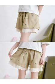 2016 summer new women u0027s loose shorts skirts embroidery sweet
