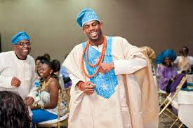 West African Wedding Attire Groom Aso Oke