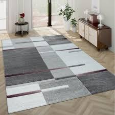 kurzflor teppich wohnzimmer karo muster design