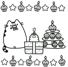 Coloring Pages Pusheen New Pdf Free For