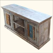 Rustic Primitive Painted Distressed Old Reclaim Wood TV Stand Media Storage Cabinet Furniture