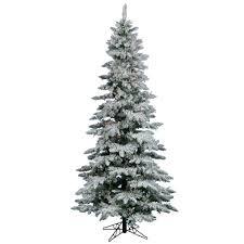 Vickerman Pre Lit Flocked Christmas Tree by Amazon Com Vickerman Flocked Slim Utica Tree With 400 Led Light