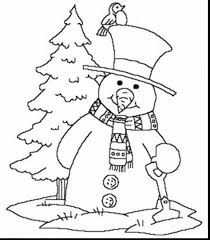 Amazing Winter Printable Snowman Coloring Pages With Free Holiday And