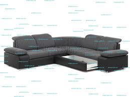 canapé en tissu gris canapé d angle symétrique en tissu gris clair et simili gris rabelais