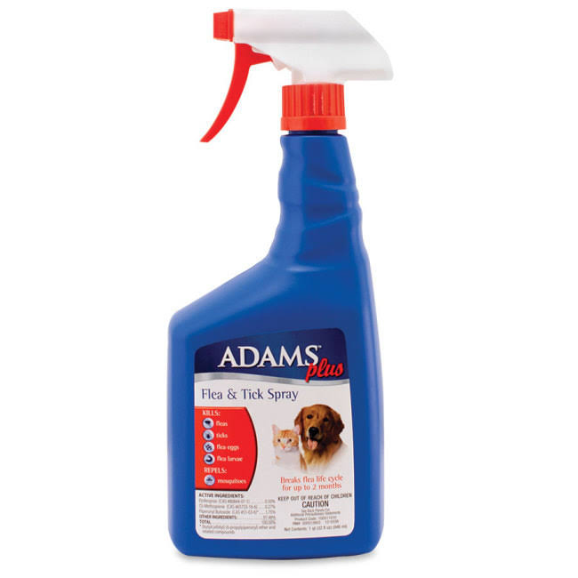 Adams Plus Flea and Tick Spray for Cats and Dogs - 32oz