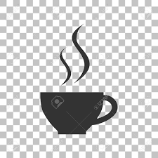 Cup Of Coffee Sign Dark Gray Icon On Transparent Background Stock Vector