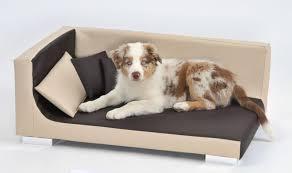 canap pour chien canapé pour chien takoda brun beige panier et corbeille