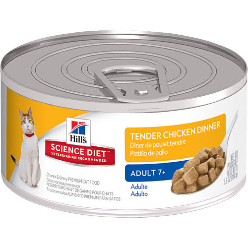 Hill's Science Diet Mature Adult Canned Cat Food - Tender Chicken Dinner, 5oz