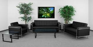100 Reception Room Chairs Brown BTOD Lesley Series Modern Waiting Furniture Set