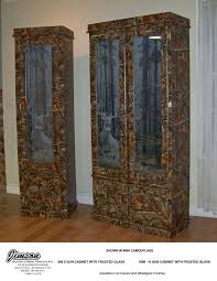 Wooden Gun Cabinet With Etched Glass by Chests And More Jimson Mfg