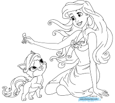 Palace Pets Coloring Pages Throughout Princess