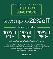 Puritan's Pride: Additional Savings When You Shop Today ...