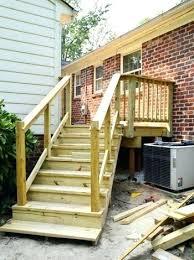 deck stair railing porch steps handrail deck stairs railing height