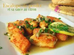 cuisiner des blancs de poulet poulet sauce au citron le cuisine de samar