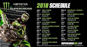 2018 Monster Energy Supercross Schedule And Video