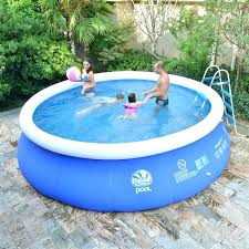 Plastic Baby Pool With Slide Kiddie Hard Round Shapes
