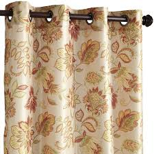 Jacobean Floral Country Curtains by Glencove Floral Spice 96