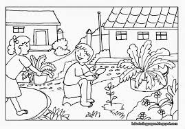 Coloring PagesScene Pages Nature Scenery Colouring For Kids Farm Inside Scene