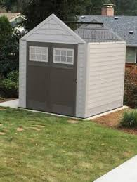 Rubbermaid Horizontal Storage Shed Home Depot by Keter Fusion 7 5 Ft X 7 Ft Wood And Plastic Composite Shed