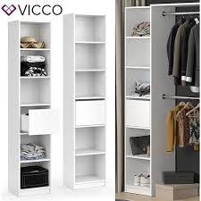 vicco kleiderschrank guest regal schlafzimmer erweiterung geteilt schublade