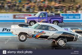 100 Pro Stock Truck ET Drag Racing At Santa Pod Raceway Neil Watkins Dodge