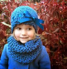 lazo ni±a de 3 a 6 a±os de lana azul³n