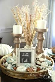 Coastal Casual Fall Tablescape On A Budget FallDining Table Decor CenterpieceFall