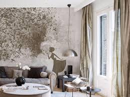 tapeten kombinationen wohnzimmer ideen inkiostro bianco