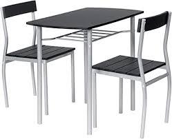 ts ideen essgruppe 3 teilig alugestell mdf tisch 82 x 50cm für die küche esszimmer studentenwohnung oder büro