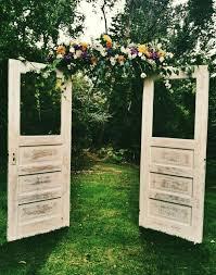 Wooden Door Wedding Arch