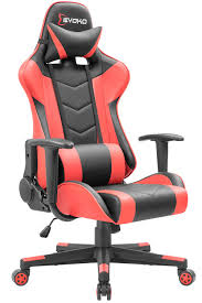 Devoko Ergonomic Gaming Chair Racing Style Adjustable Height High-Back PC  Computer Chair With Headrest And Lumbar Support Executive Office Chair (Red) Akracing Premium Masters Series Chairs Atom Black Edition Pc Gaming Office Chair Abrocom Fniture Emperor Computer Cow Print Desk Thunderx3 Tgc25 Blackred Brand New Tesoro Gaming Break The Rules Embrace Innovation Merax Highback Ergonomic Racing Red Dxracer Official Website Support Manuals X Rocker Ultimate Review Of Best In 2019 Wiredshopper Nzxt Vertagear Sl2000 Rev 2 With Footrest Moustache Titan 20 Amber