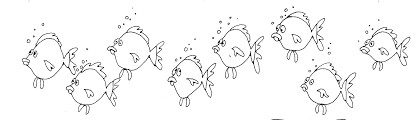 Fish black and white school of fish clipart black and white 2