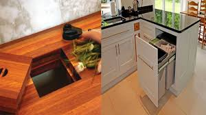 Kitchen Garbage Can Ideas Hidden Trash