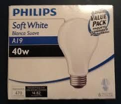 philips 40 watt soft white incandescent lightbulbs 1 pack of 6
