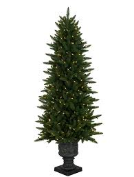 Balsam Hill Premium Artificial Christmas Trees by Highland Estate Potted Spruce Artificial Christmas Tree Balsam