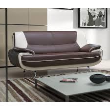 canapé d angle margo canape margo 3 places choco et blanc achat vente canapé sofa