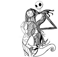 Jack Skellington And Sally Pumpkin Template by Free Printable Nightmare Before Christmas Coloring Pages Best