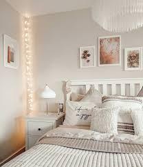 scandi boho bedroom with white ikea hemnes furniture and