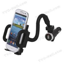 Universal Smartphone Car Mount with USB Car Charger for iPhone