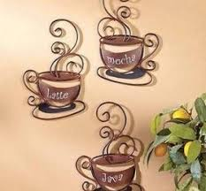 Innovative Decoration Coffee Cup Wall Decor Unbelievable Design Themed Kitchen Love
