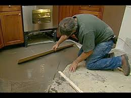 Preparing Concrete Subfloor For Tile by How To Level A Concrete Floor This Old House Youtube